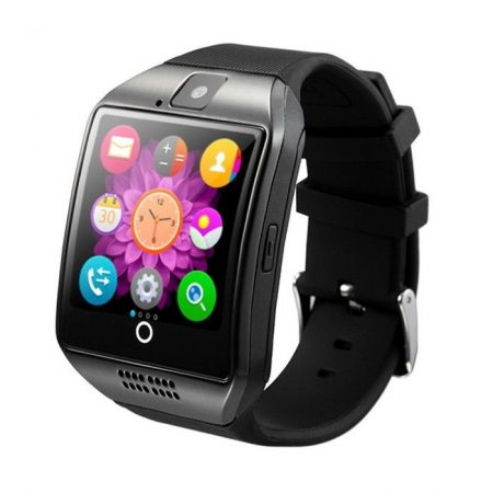 Q18 Okosóra  fekete Telefon SIM iOS Android