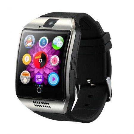 Q18 Okosóra  ezüst Telefon SIM iOS Android