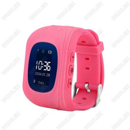 Gyerek okosóra GPS és Bluetooth funkcióval - Pink