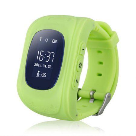 Gyerek okosóra GPS és Bluetooth funkcióval - Zöld