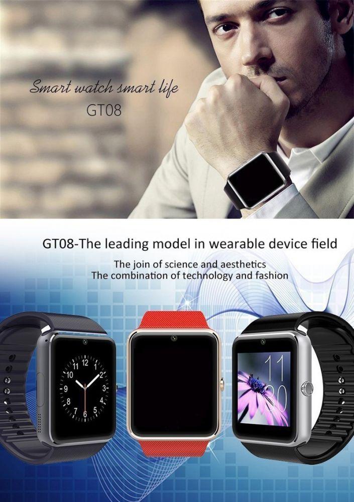 GT08 okosóra telefon egyben - ezüst - okosóra webáruház