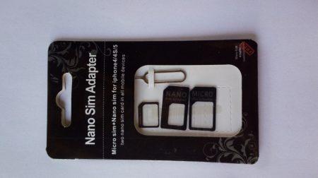 SIM kártya adapter 4in1 univerzális