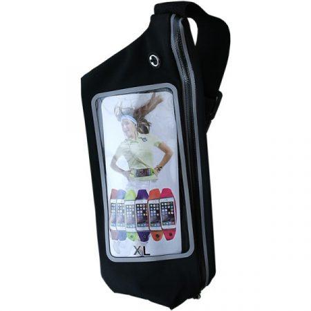 Mobiltelefontartó táska - XL-fekete