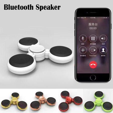 Fidget Spinner + Bluetooth hangszóró iPhone Toy LED Tri izeg EDC Hands Counter stressz elleni Fluoreszkáló játék