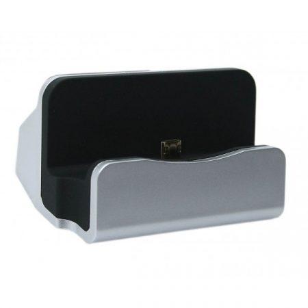Micro USB dokkoló - Ezüst