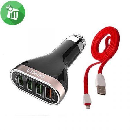 Autós USB Tőltö 4 portos
