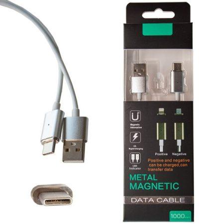 Mágneses USB-C adat/töltőkábel csatlakozóval