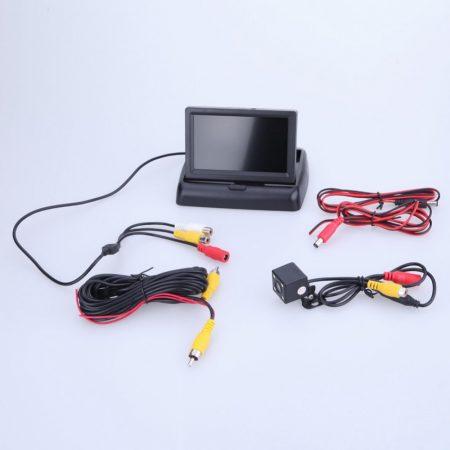"""4,3"""" Monitor + Vezetékes tolatókamera szett"""