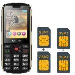 4 SIM kártya 4 Készenléti teljesítmény Bank mobiltelefon