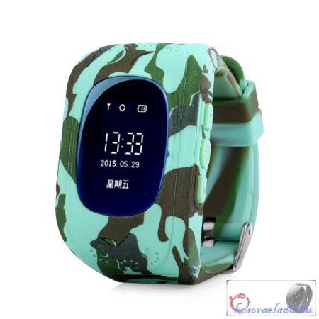 Gyerek okosóra GPS és Bluetooth funkcióval - kék-terep