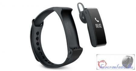 Huawei Smart Band Bluetooth fülhallgató karkötő Huawei Talkband B2-Fekete tpu szíj