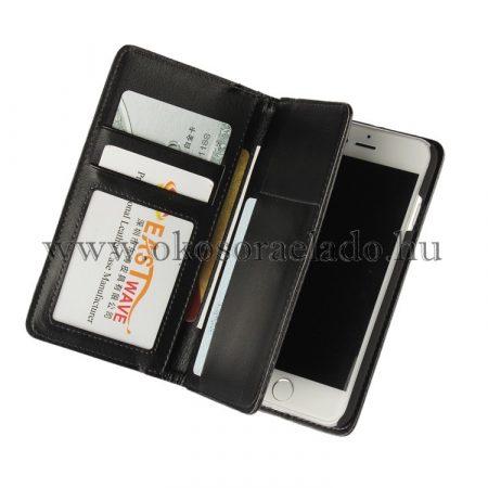 multifunkciós prémium bőr tok iPhone 7 - fekete