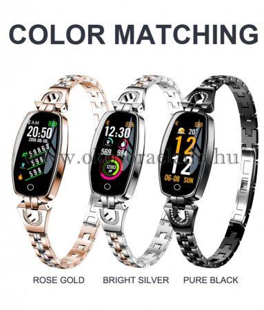 H8 Smart Bracelet Női aktivitás Fitness Tracker Pulzusmérő vérnyomás IP67