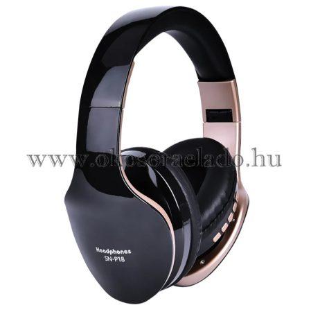 P18 vezeték nélküli fejhallgató Bluetooth fejhallgató összecsukható sztereó fejhallgató játék fülhallgató mikrofonnal